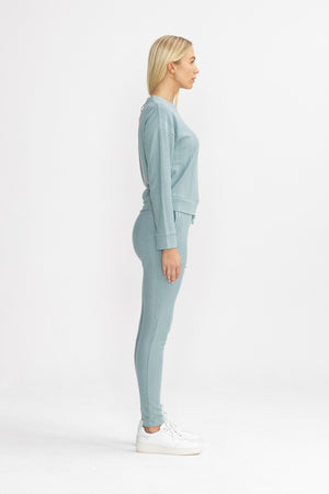 Load image into Gallery viewer, Women's Grey Blue Broad Street Trousers - P r é v u . S t u d i o .