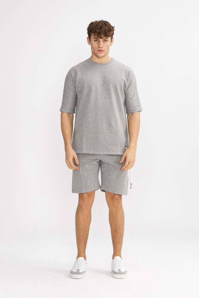 Grey Core Luxe Regular Fit T-Shirt - P r é v u . S t u d i o .