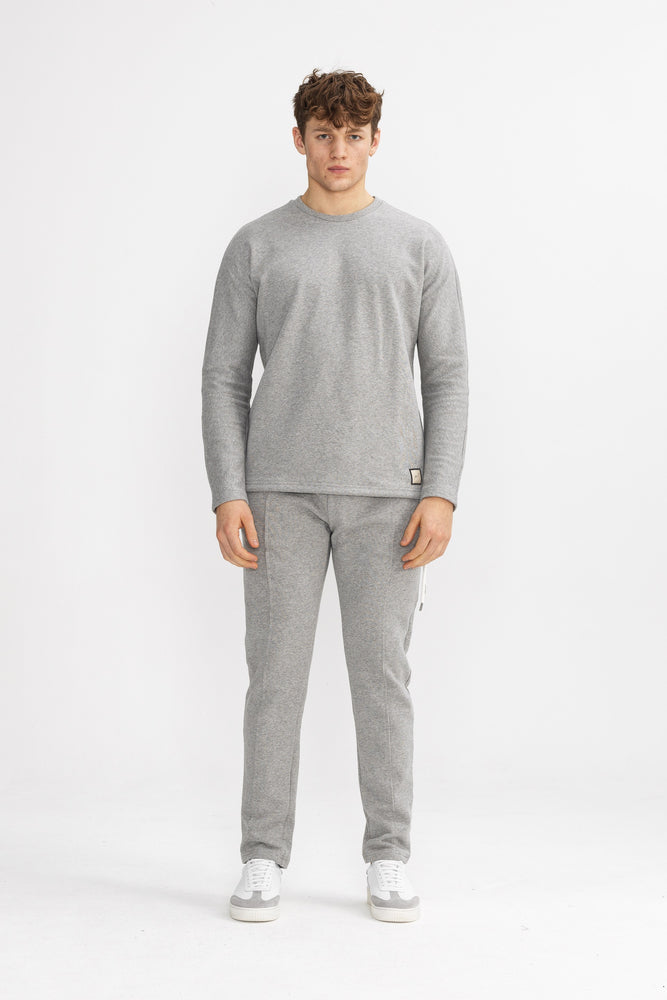 Grey Core Luxe Regular Fit Sweatshirt - P r é v u . S t u d i o .