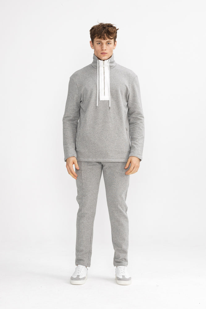 Grey 1/4 Zip Core Luxe Sweatshirt