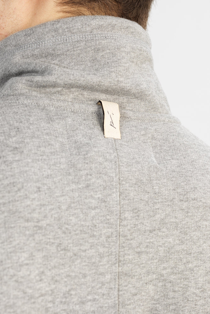 Load image into Gallery viewer, Grey 1/4 Zip Core Luxe Sweatshirt - P r é v u . S t u d i o .