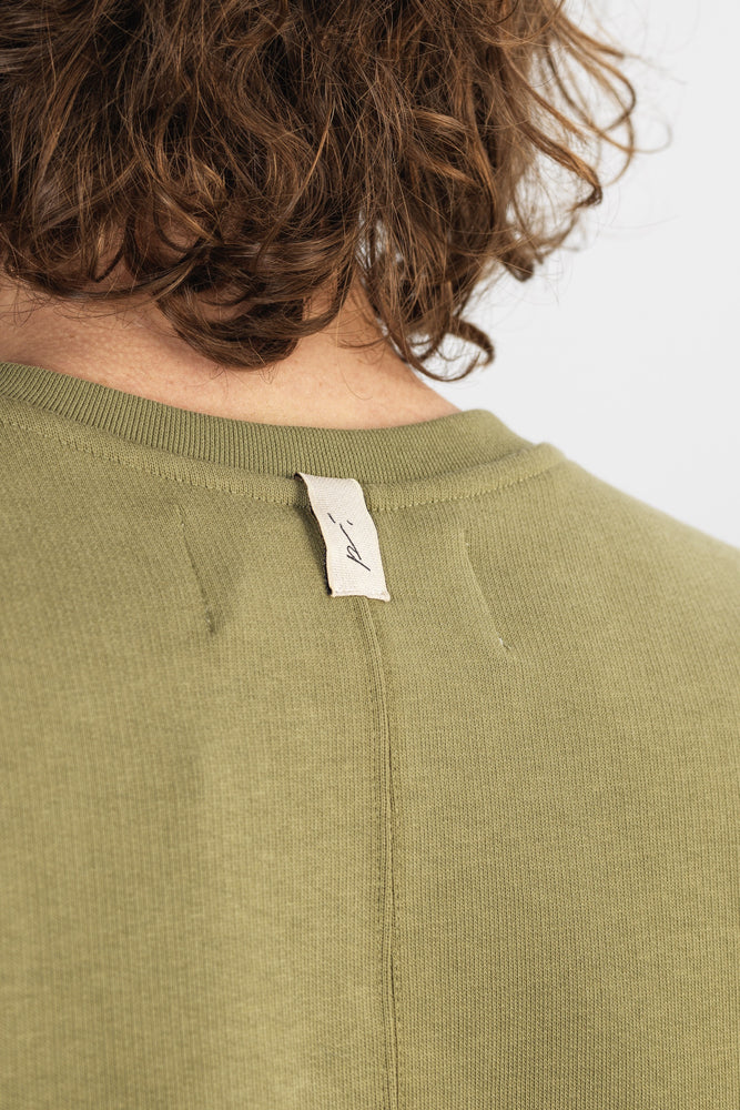 Khaki Core Luxe Regular Fit Sweatshirt - P r é v u . S t u d i o .