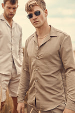 Beige Otra Regular Fit Shirt - P r é v u . S t u d i o .