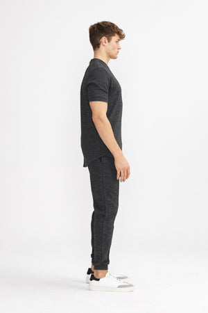 Dark Grey Cruise Slim Fit Trousers - P r é v u . S t u d i o .