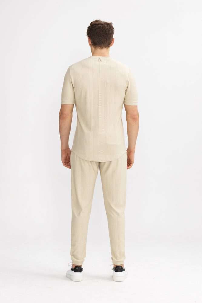 Load image into Gallery viewer, Tan Broad Street Slim Fit Trousers - P r é v u . S t u d i o .