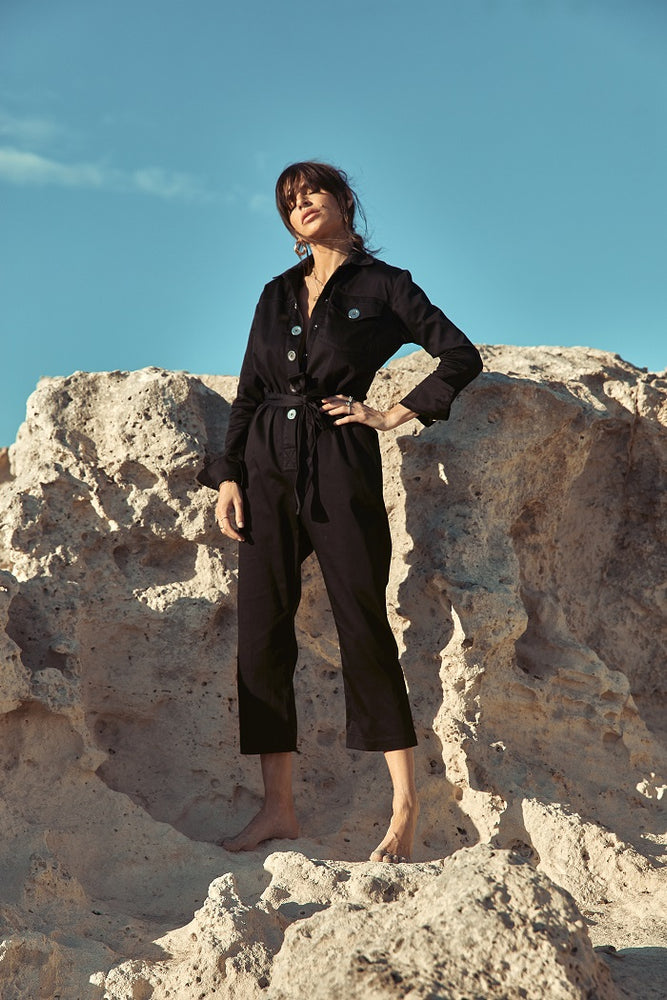 Women's Black Monterey Jumpsuit