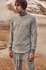 Grey and White Stirling Slim Fit Jumper