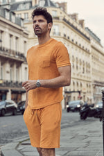 Orange Astor Towelling Shorts
