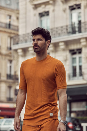 Orange Broad Street Short Sleeve T-Shirt - P r é v u . S t u d i o .