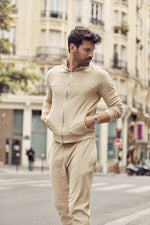 Tan Astor Towelling Track Jacket