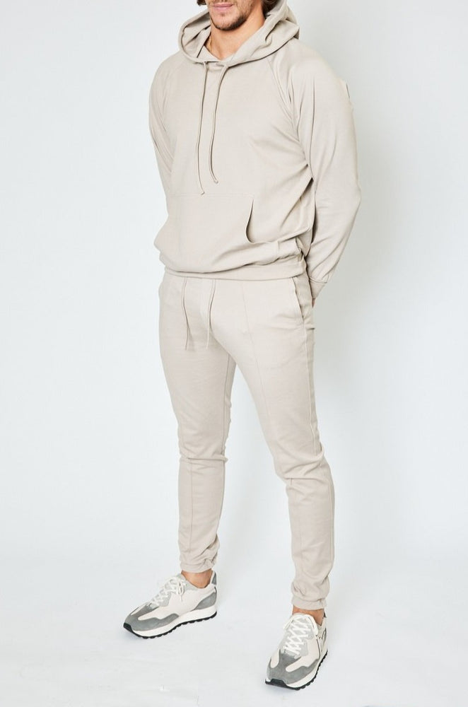 Load image into Gallery viewer, Beige Myndas Regular Fit Hoodie - P r é v u . S t u d i o .