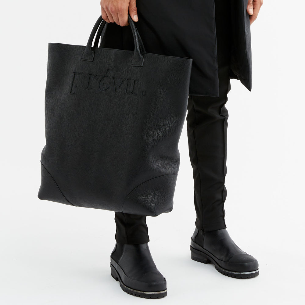 Black Livenza Pebble Leather Tote - P r é v u . S t u d i o .