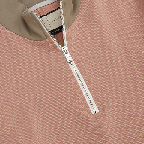 Pink Queens 1/4 Zip Funnel Neck Top