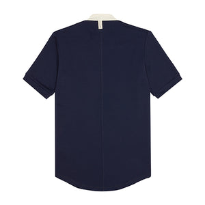 Navy Queens Zip Neck T-Shirt - P r é v u . S t u d i o .