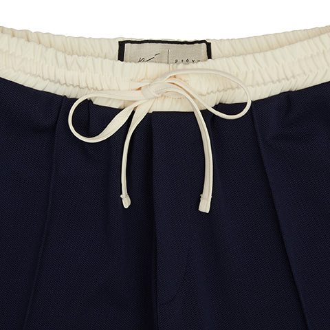 Navy Queens Pleated Shorts