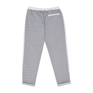 Load image into Gallery viewer, White River Stripe Slim Fit Trousers - P r é v u . S t u d i o .