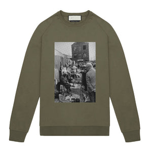 Tech Jersey Sweatshirt Bees & Honey Olive