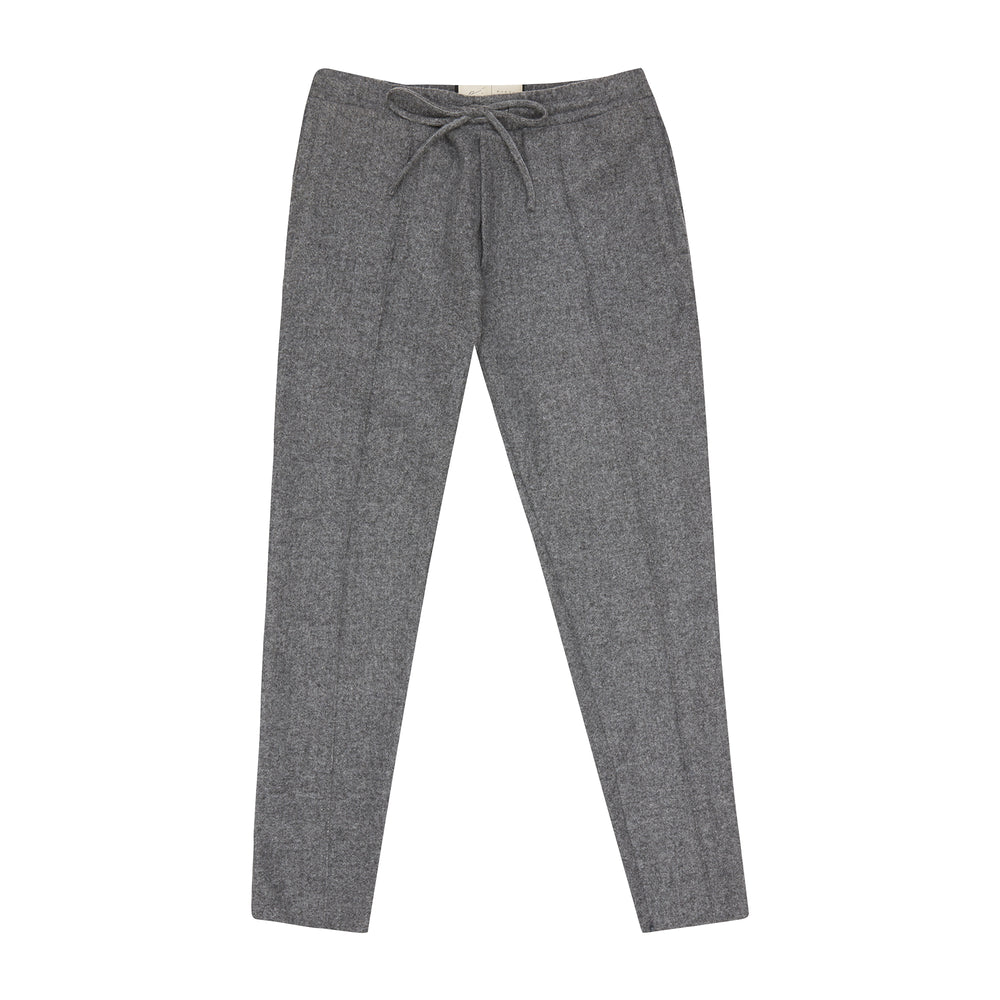 Grey Nord Wool Slim Fit Trousers - P r é v u . S t u d i o .