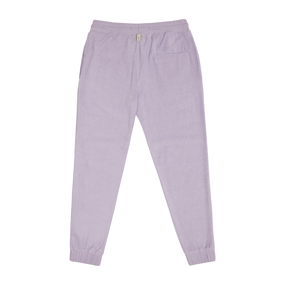 Load image into Gallery viewer, Lilac Astor Towelling Joggers - P r é v u . S t u d i o .