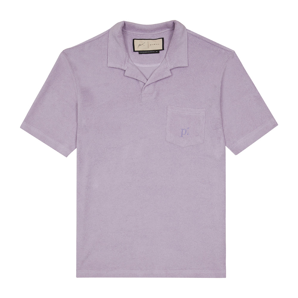 Lilac Astor Towelling Short Sleeve Slim Fit Polo