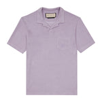 Lilac Astor Towelling Short Sleeve Slim Fit Polo - P r é v u . S t u d i o .