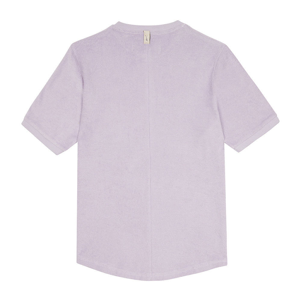 Lilac Astor Towelling Short Sleeve Slim Fit T-Shirt