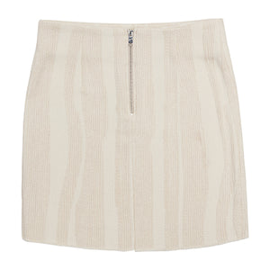 Load image into Gallery viewer, Women's Cream Stripe Souk Skirt - P r é v u . S t u d i o .