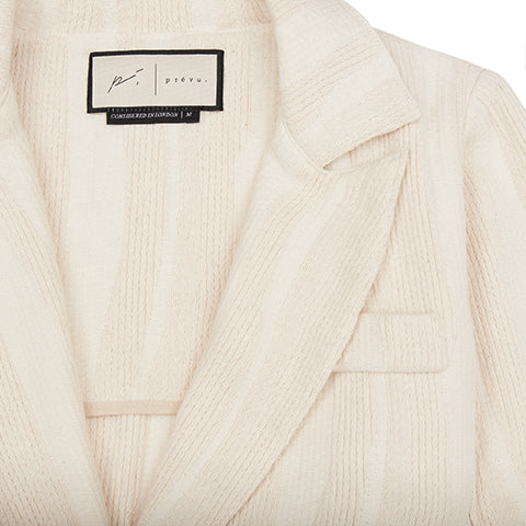 Women's Cream Striped Souk Blazer