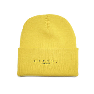 PREVU BEANIE - EMBROIDERED LONDRES DESIGN MUSTARD