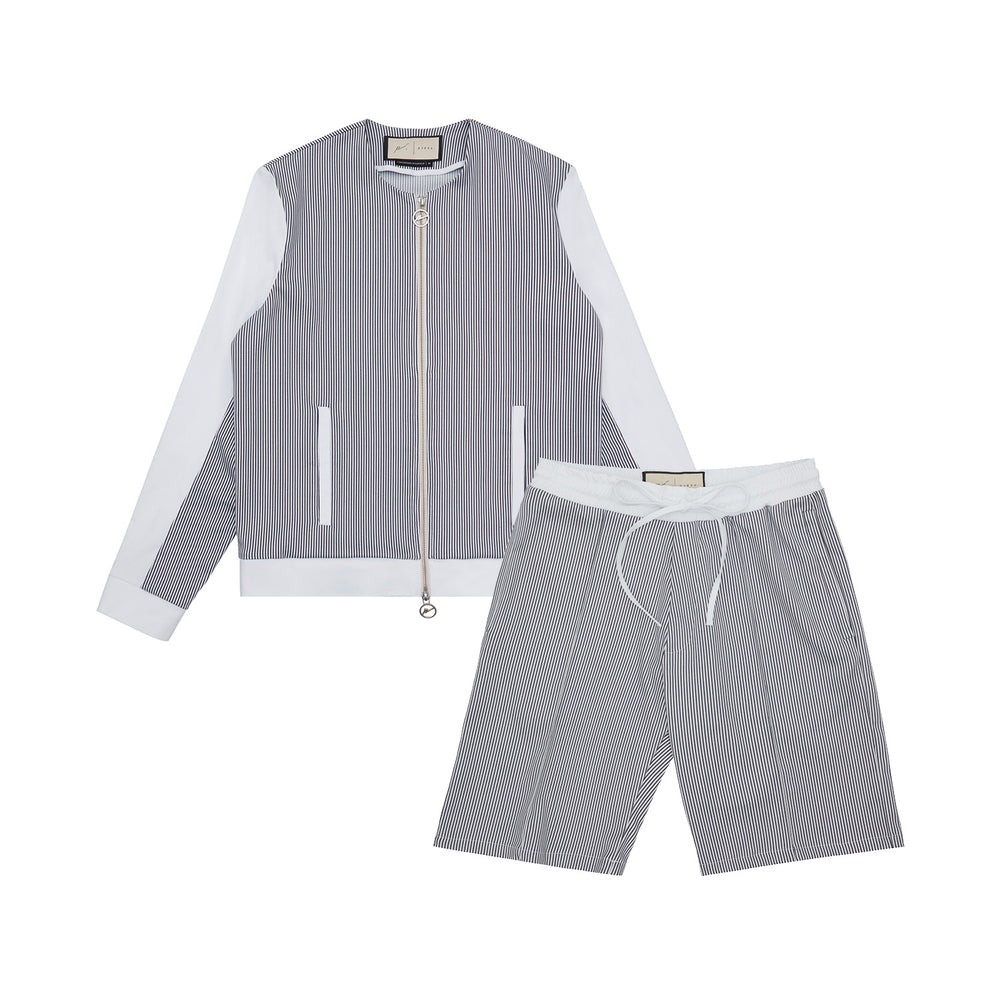 River Collarless Jacket & Short Twinset
