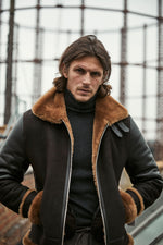 Shearling Jacket Brown - P r é v u . S t u d i o .
