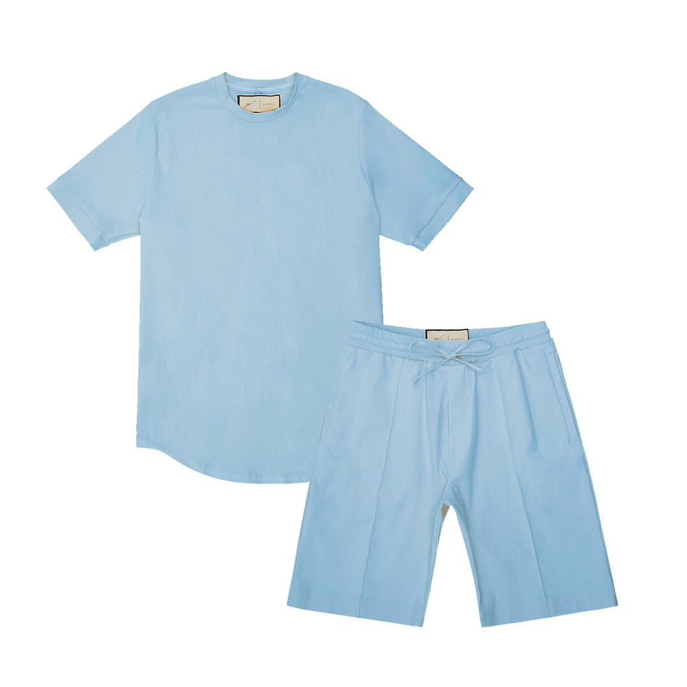 Melrose Avenue Short Twinset Powder Blue
