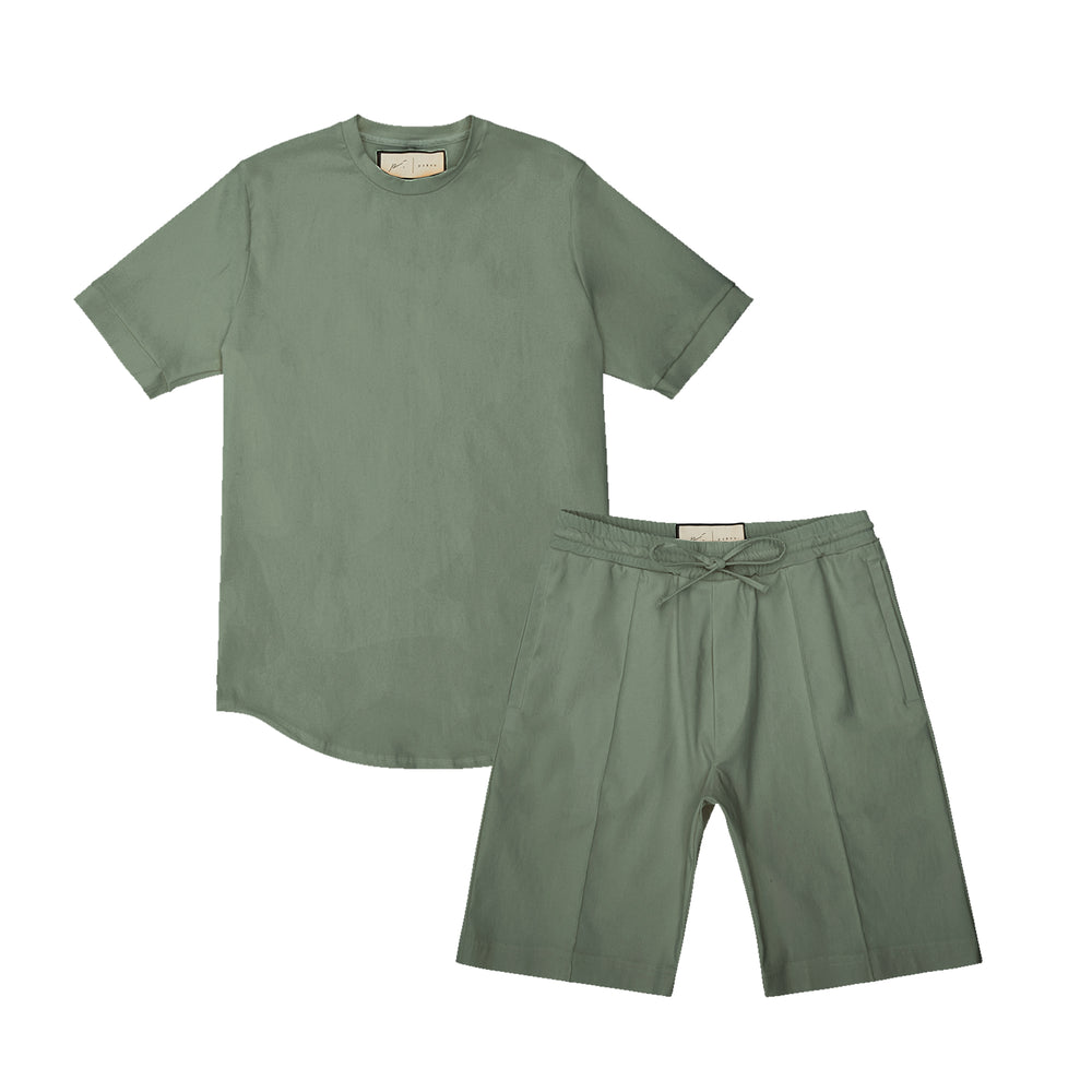 Melrose Avenue Short Twinset Olive