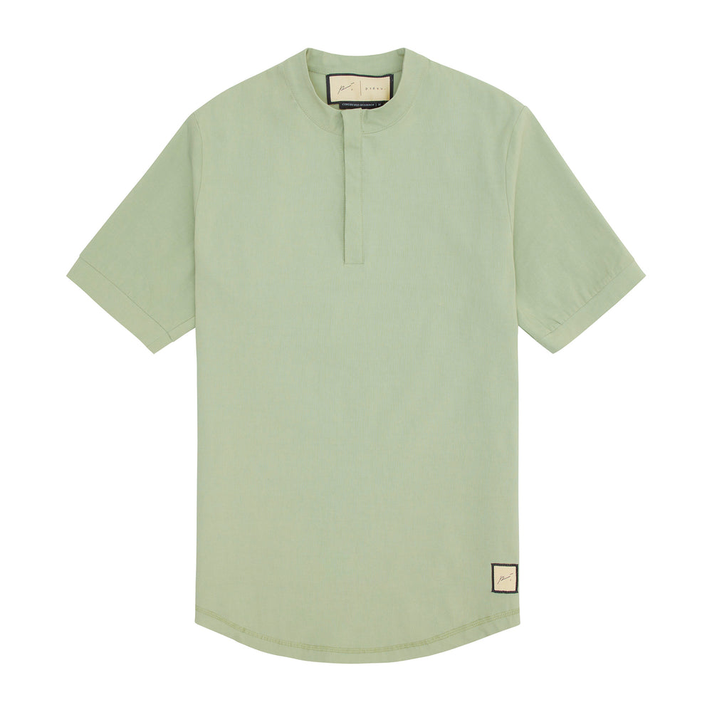 Load image into Gallery viewer, Prévu Classic Slim Fit Grandad Collar T-Shirt Teal - P r é v u . S t u d i o .