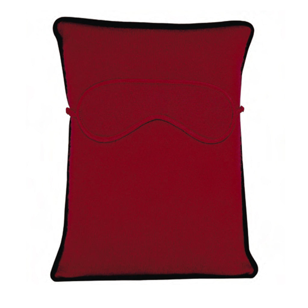 Chronos Travel Pillow with Eye Mask - Arizona Red / Wine
