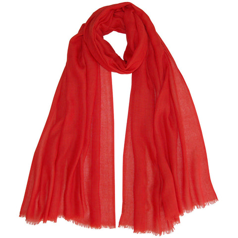 Baby Cashmere Shawl - Jungle Red