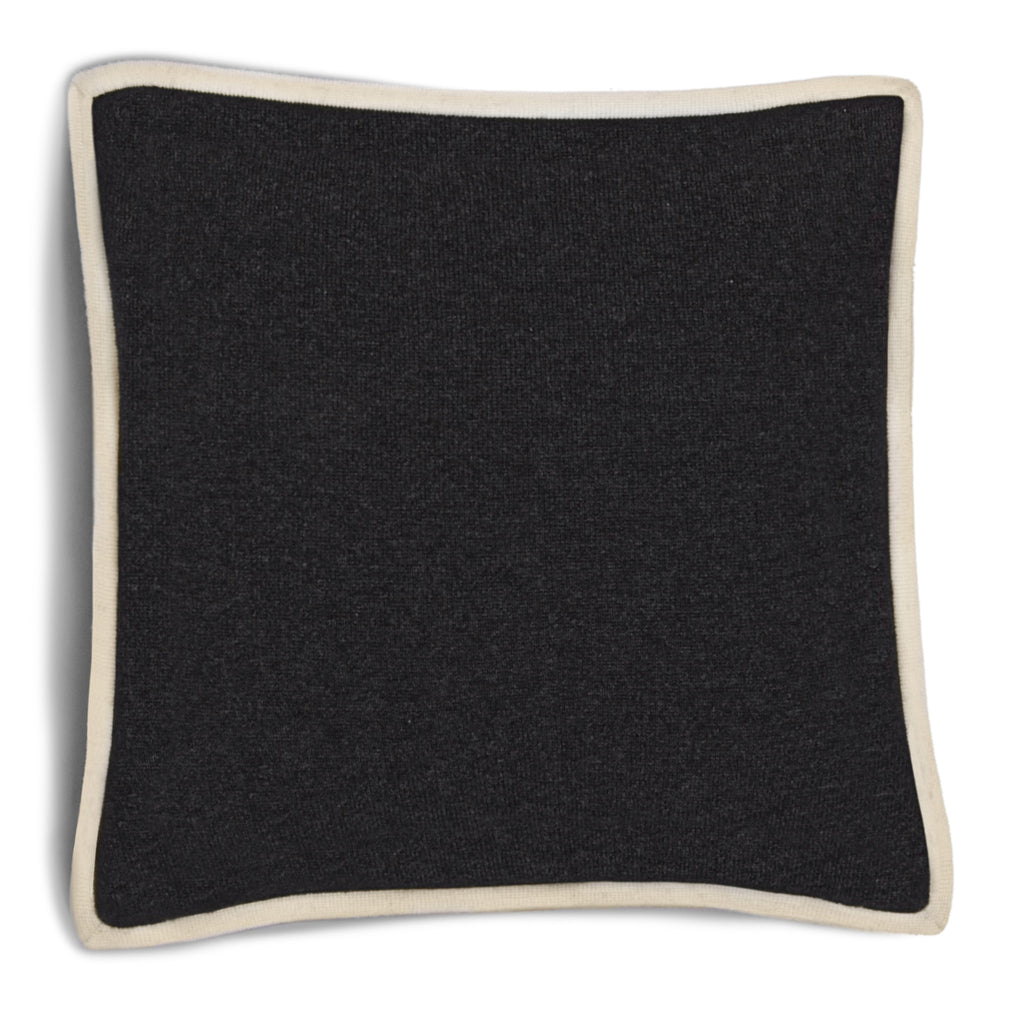 Hudson Pillow - Dark Grey Melange / Ivory