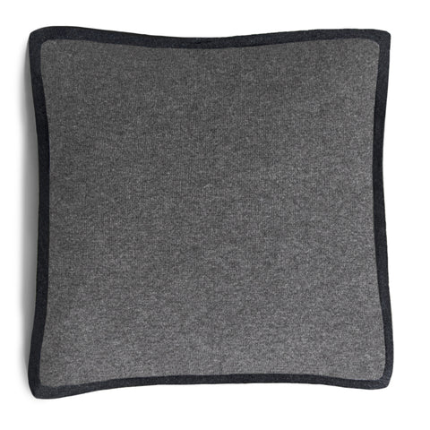 Hudson Pillow - Medium Grey Melange / Dark Grey Melange