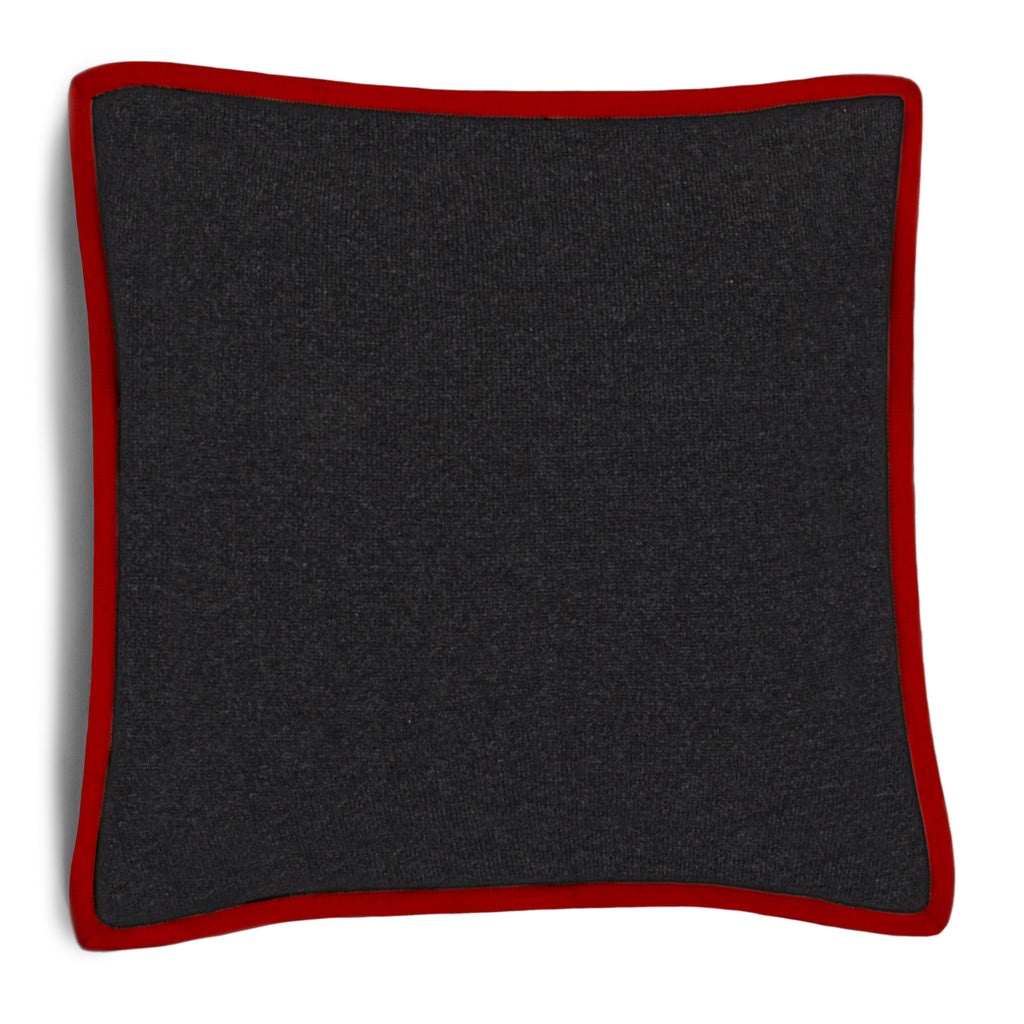 Hudson Pillow - Dark Grey Melange / Pompeian Red