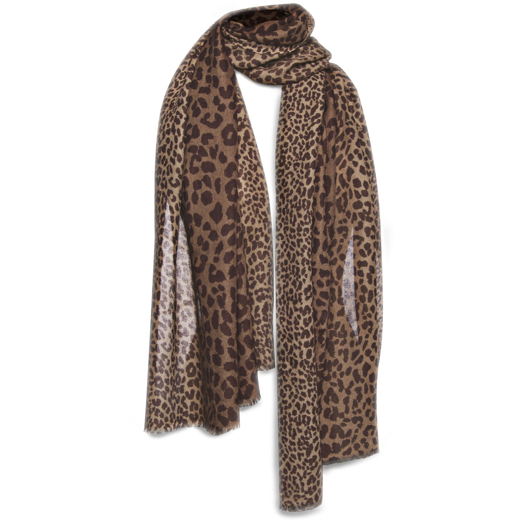 Ombre Leopard Shawl - Natural
