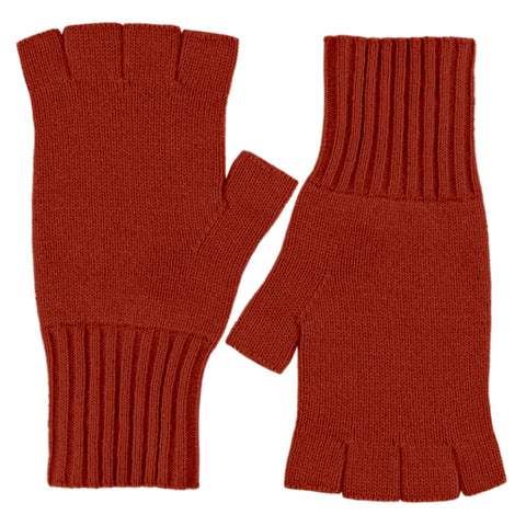 Fingerless Gloves - Jungle Red