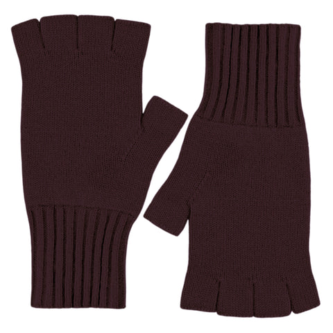 Fingerless Gloves - Mulberry