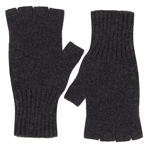 Fingerless Gloves - Dark Grey Melange