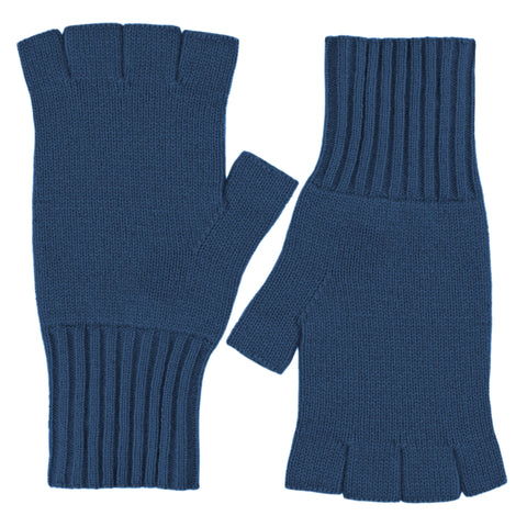Fingerless Gloves - Himalayan blue