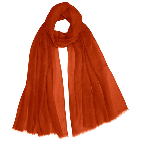 Baby Cashmere Shawl - Burnt Orange