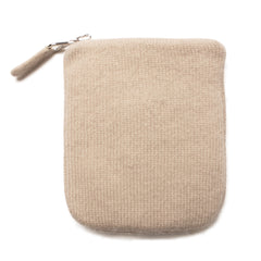 Cashmere Eye Mask and Pouch - Cream