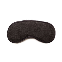 Cashmere Eye Mask and Pouch - Dark Grey Melange