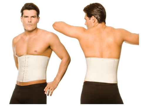 2031 Latex Men Girdle Body Shaper Color Beige Plus