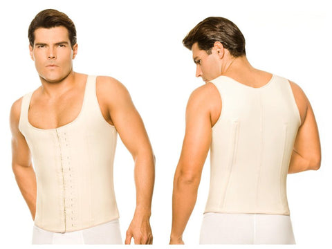 2033 Latex Men Girdle Body Shaper Color Beige Plus