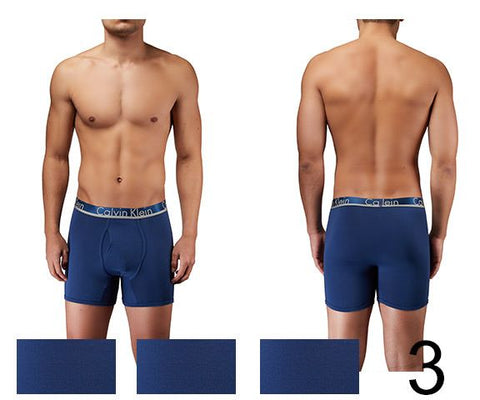 Calvin Klein NB1361-916 Comfort Microfiber 3 Pack Boxer Brief Color Airforce